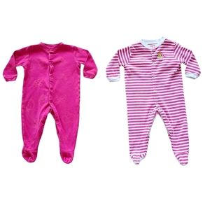 Lot of Baby Girl Pajamas / Long Sleeve Onesies